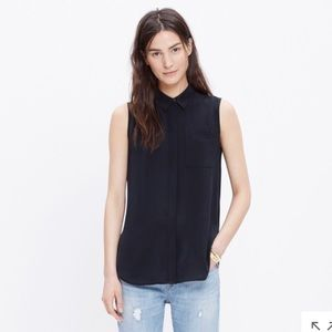 Madewell silk sleeveless composer shirt
